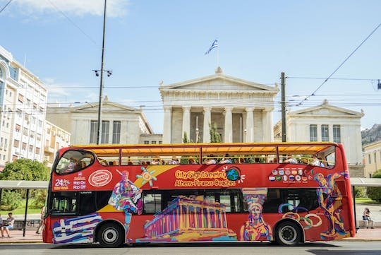 Hop-on hop-off Athens pass with Piraeus and Beach-Riviera tour options