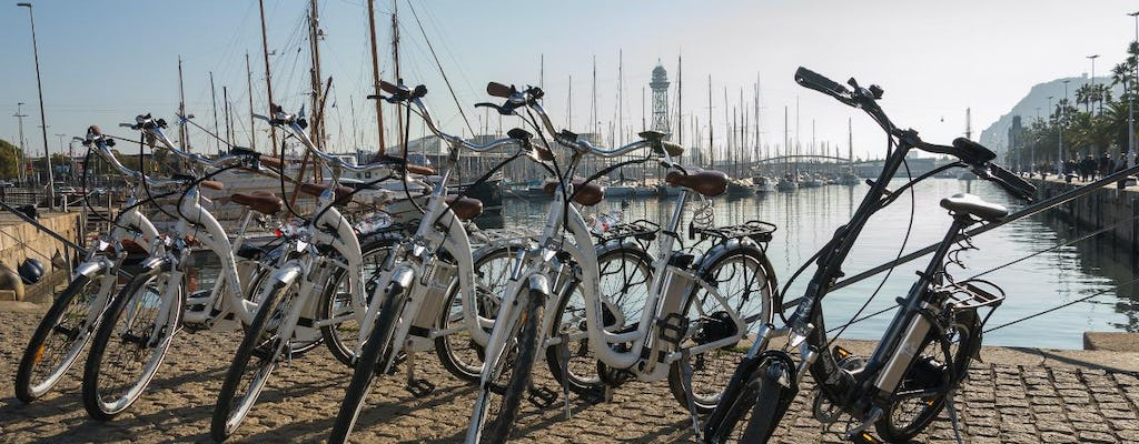 360° Barcelona on e-bike, catamaran and cable car tour