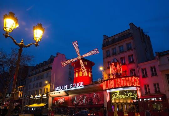 Tour pelas luzes de Paris e espetáculo no Moulin Rouge