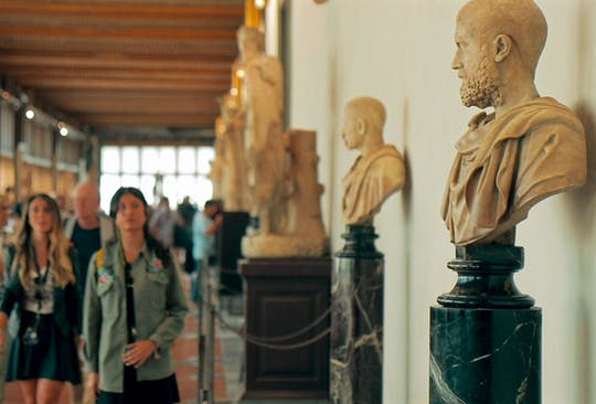 Clase magistral de los Uffizi en grupos pequeños con un historiador del arte