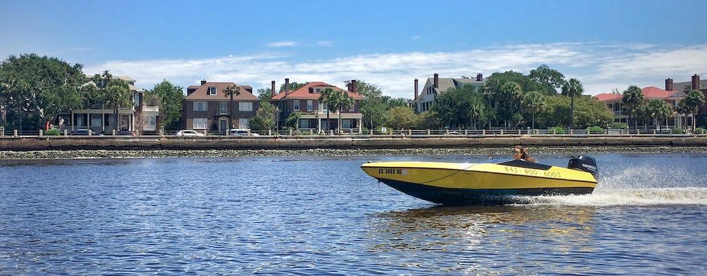 Circuit aventure en bateau à moteur Charleston