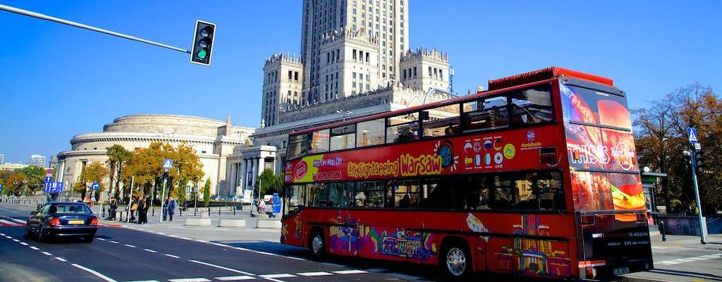 Pase de autobús turístico por Varsovia de 24, 48 o 72 horas