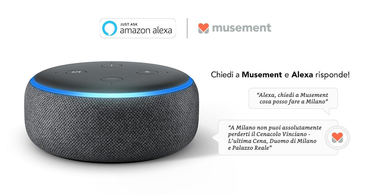 Musement si aggiunge alle Skill in italiano di Alexa