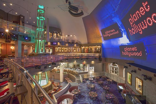 Planet Hollywood 10 USD maaltijdticket