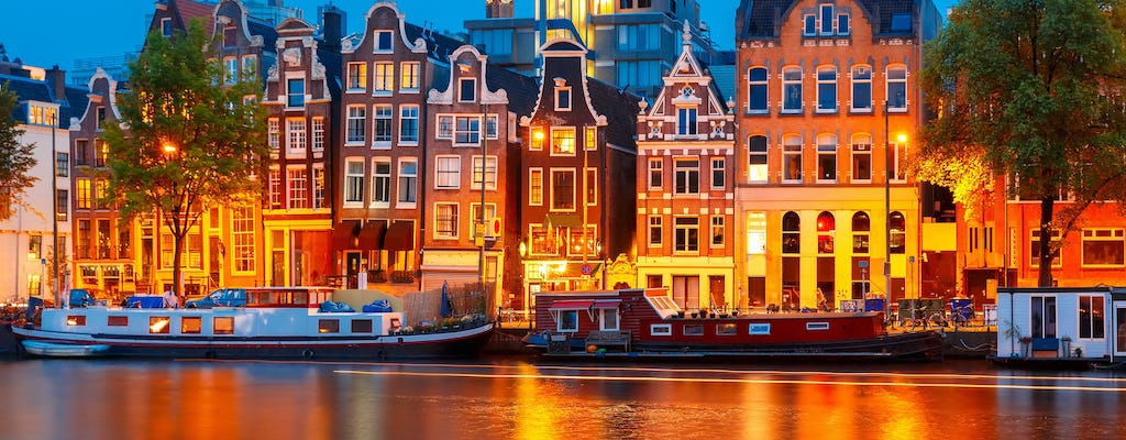 Amsterdam canal cruise with 4-course live cooking dinner