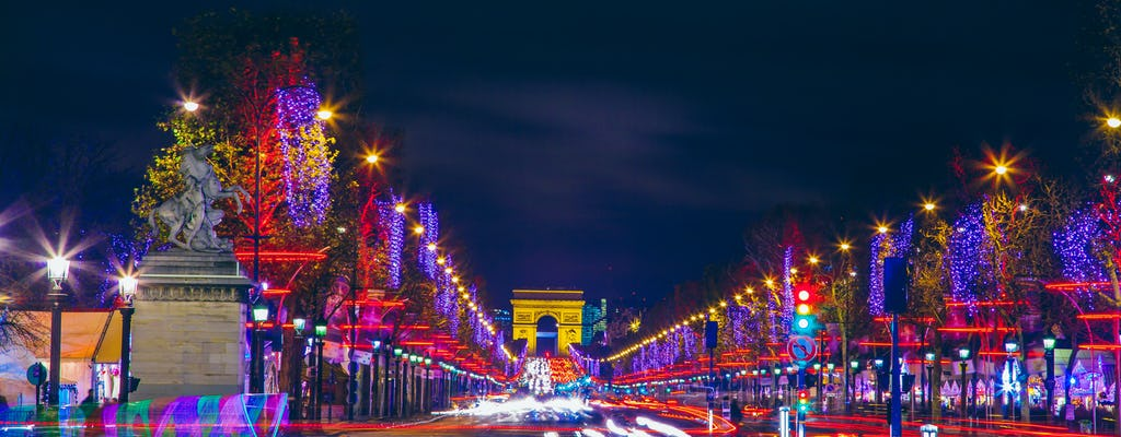 Christmas tour of the Champs Elysées and the Arc de Triomphe