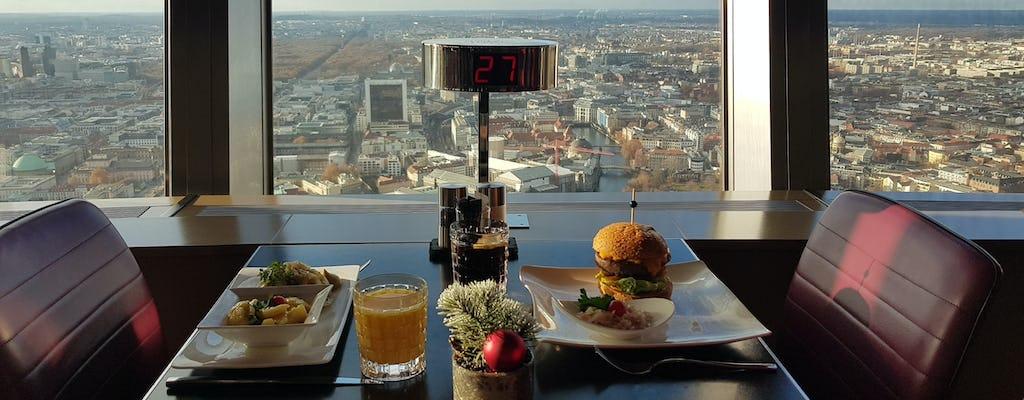 Berlińska wieża telewizyjna – bilety z ominięciem kolejki, dwudaniowy obiad i stolik przy wewnętrznym rzędzie