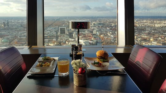 Berlin TV Tower skip-the-line ticket with 2-course lunch and inner circle seat