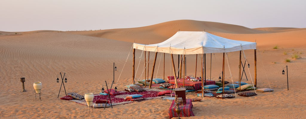 Private champagne desert safari in Dubai