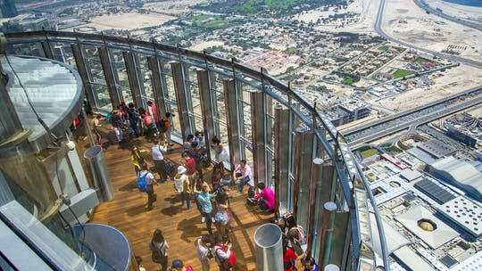 At The Top Burj Khalifa with afternoon tea at Al Bayt
