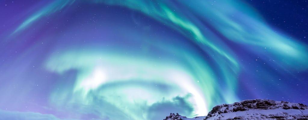 Tour da aurora boreal na Islândia