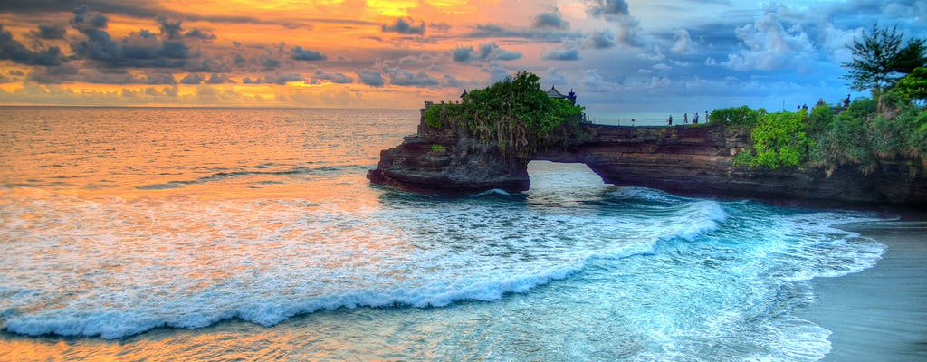 Sunset at Tanah Lot Temple with spa option
