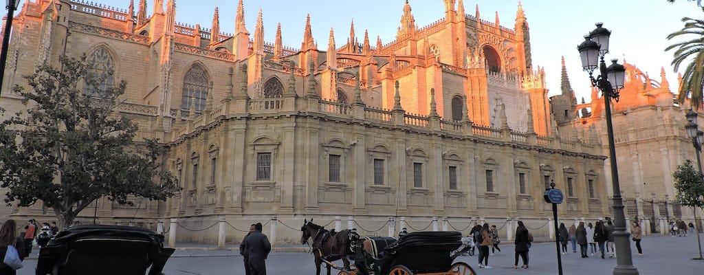 Katedra w Sewilli i wieża Giralda z przewodnikiem