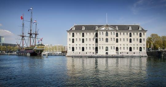 Bilhete de entrada para o Museu Marítimo Nacional e cruzeiro pelos canais de Amsterdã