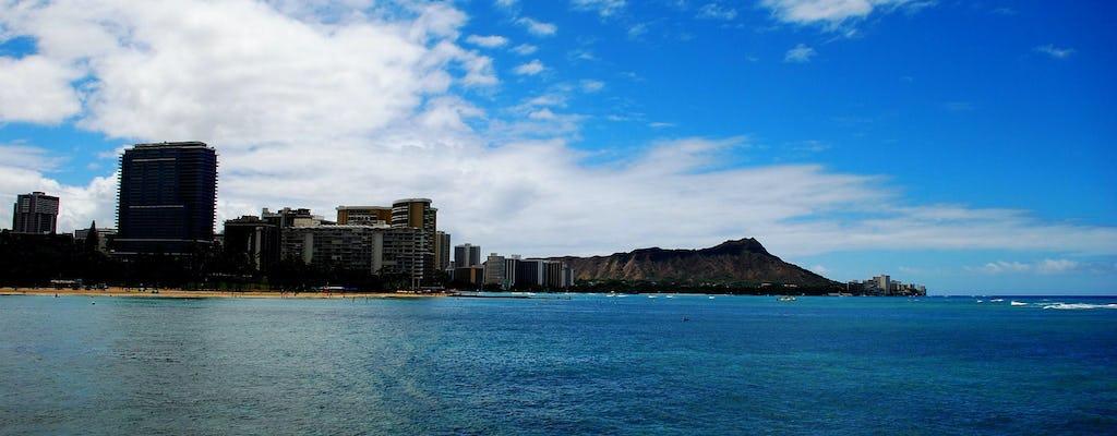 Waikiki catamarano al tramonto