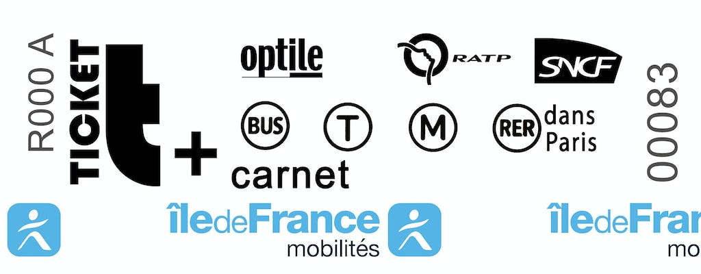 Paris Public Transportation | Book of 10 t+ tickets RATP