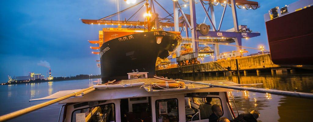 Lichterfahrt durch den Hamburger Hafen