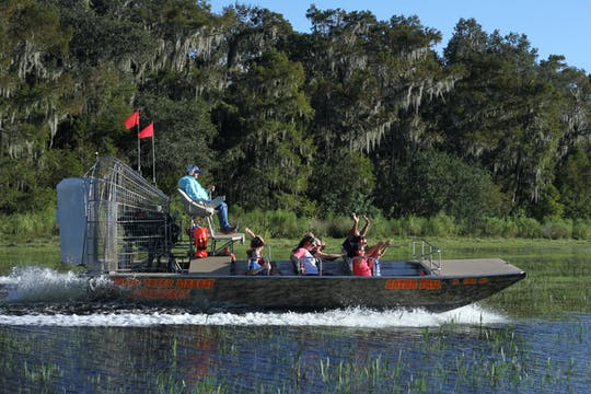 One hour airboat Central Florida Everglades tour with park admission