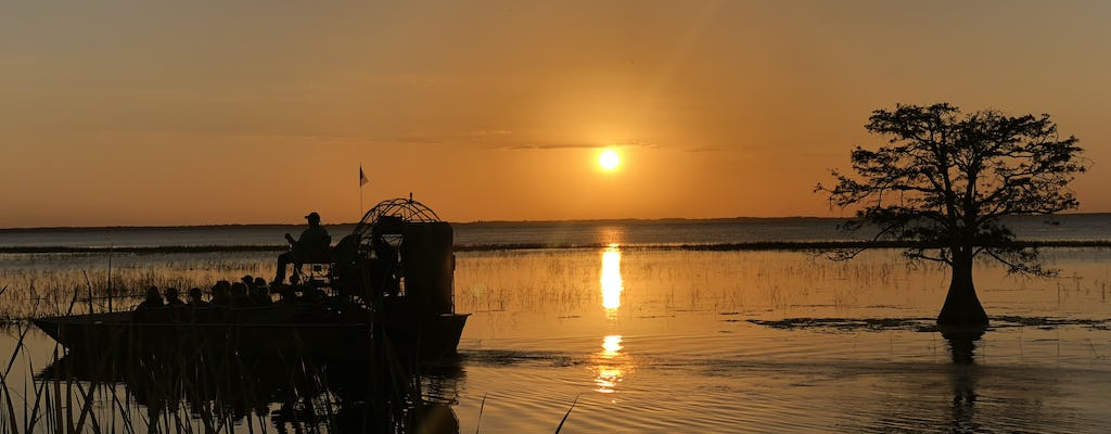 Sunset Central Florida Everglades airboat tour with park admission