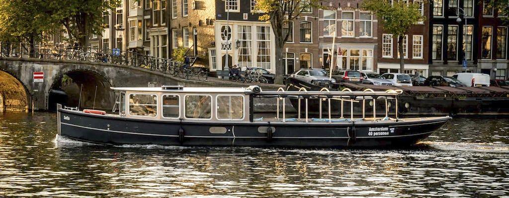 Amsterdam Grachtenfahrt mit deutschem Live-Kommentar