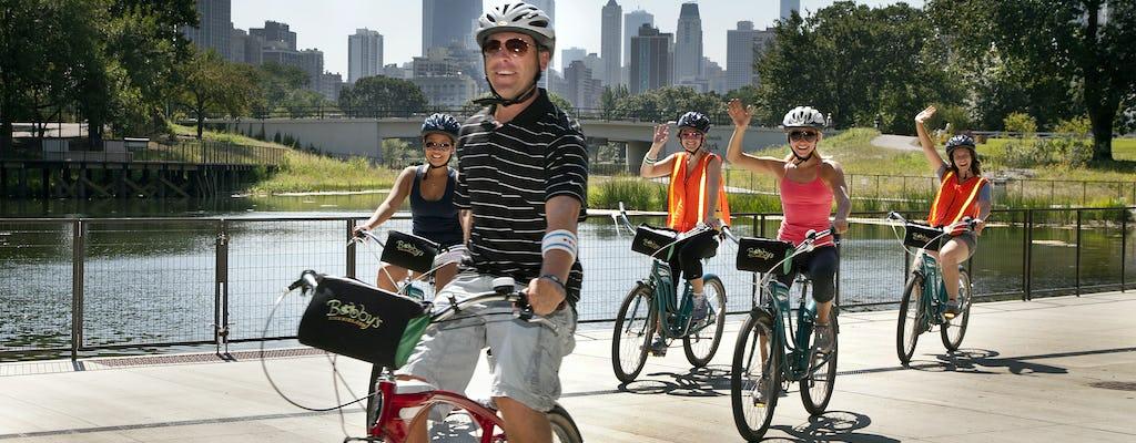 Чикаго на берегу озера рядом велотур