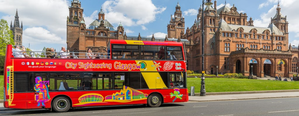 Glasgow hop-on-hop-off 1 or 2 day city sightseeing tickets