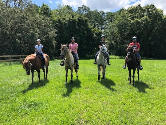 Horseback trail ride in Central Florida