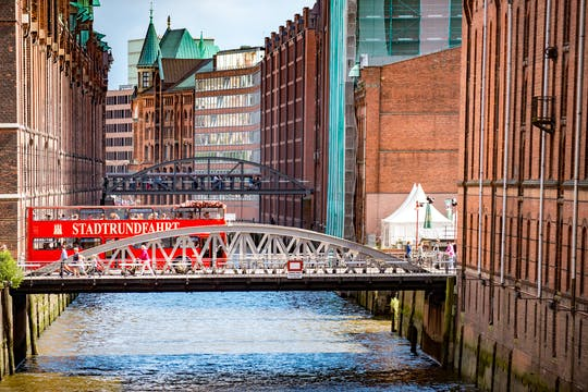 Discover Hamburg with hop-on hop-off bus, harbor and Alster cruise