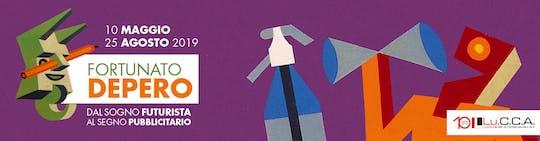 """Biglietti per la mostra """"Fortunato Depero. Dal sogno futurista al segno pubblicitario """""""