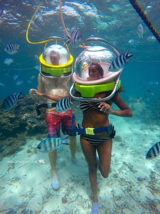 Walking under the sea in Mauritius
