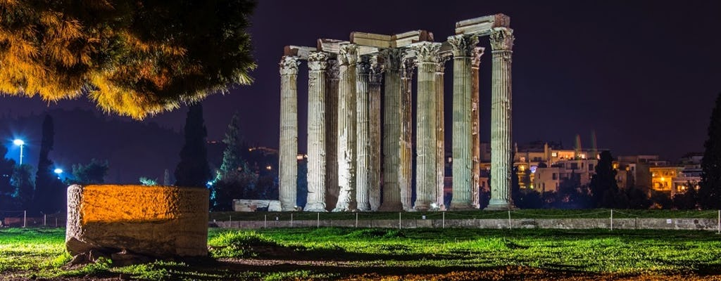 Athens by night small-group walking tour