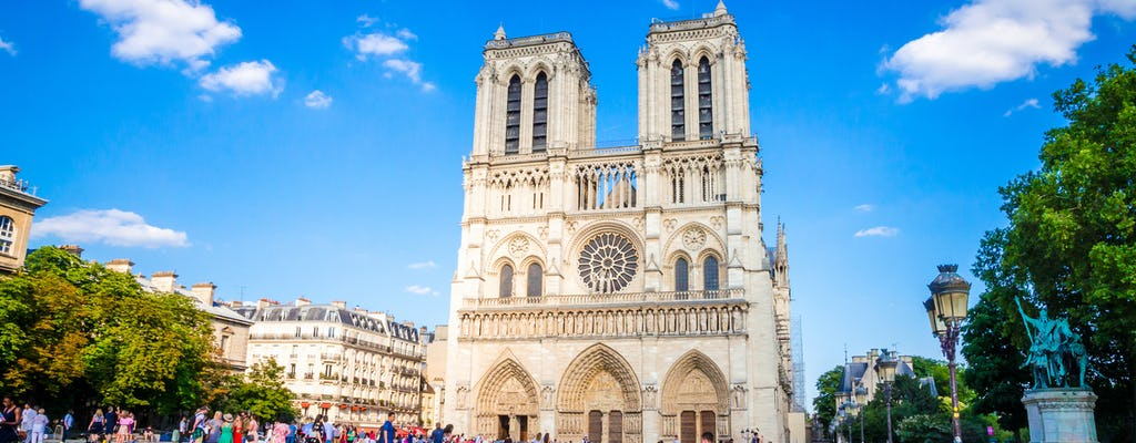 Notre Dame Cathedral view and neighborhood guided tour