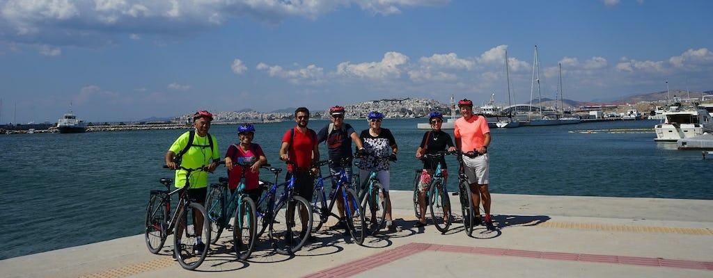 Excursión en bicicleta por la costa de Atenas