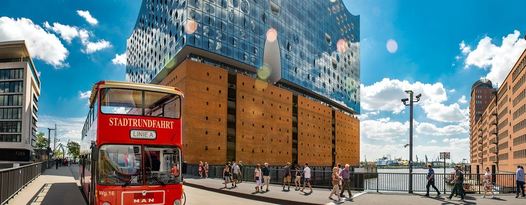 Hamburg hop-on hop-off bus tour 1-day ticket