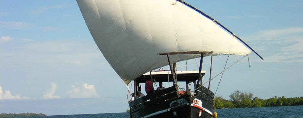 Cruzeiro de dhow nas Ilhas Funzi e Kinazini
