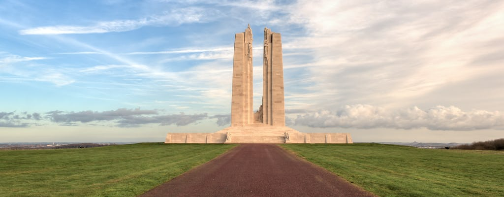 Round trip transfer from Arras or Lens to Vimy Ridge
