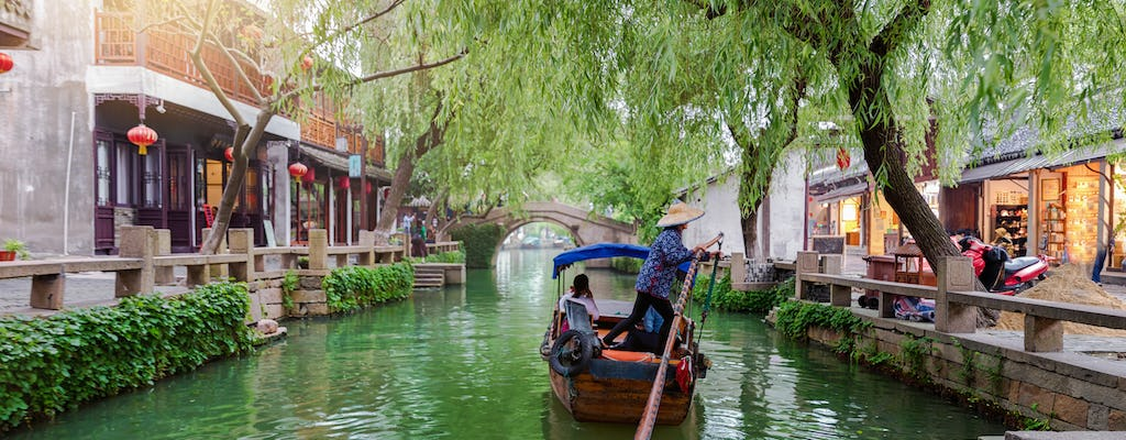 Zhujiajiao water village boat tour with hotel pick-up