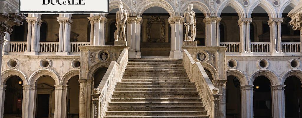 Palácio do Doge e a Basílica de Ouro, fila e visita guiada com passeio de gôndola e arte de sopro de vidro