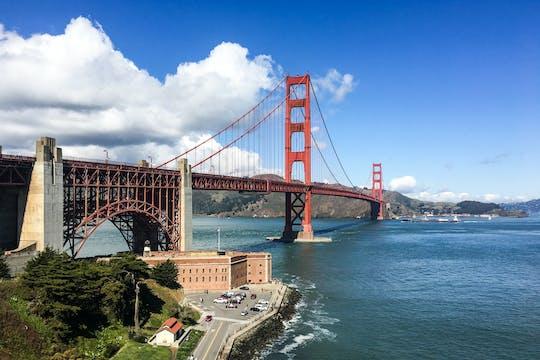 San Francisco Golden Gate historical walk with secret bridge viewpoint