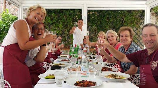 Aula de culinária siciliana em Taormina