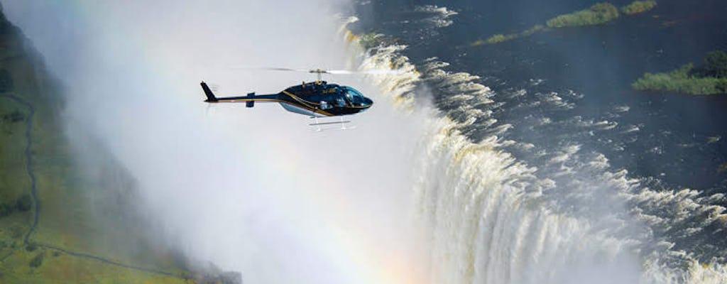 Survol des chutes Victoria en hélicoptère