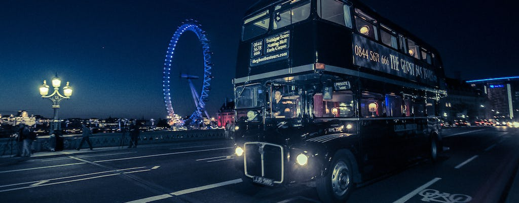 London ghost bus tour y comedia de terror show