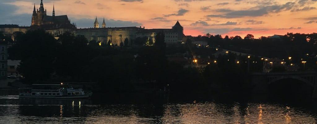 Prague night walking tour and Vltava river cruise