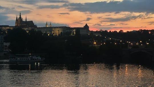 Prague night walking tour and Vltava river cruise