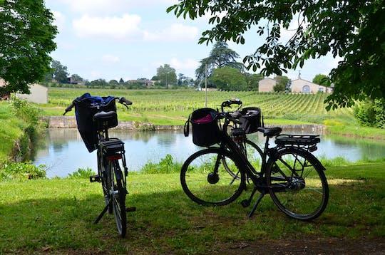 Велосипедный тур в центре Санкт-Emilions лозы