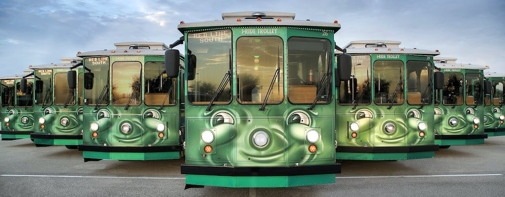 I-RIDE Trolley on International Drive in Orlando Florida