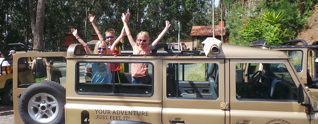 Madeira east or west private half day jeep tour