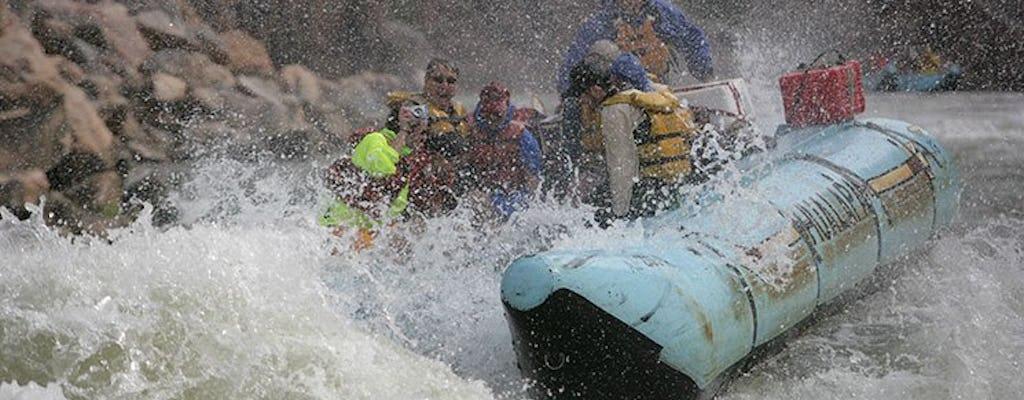 Tour por aguas bravas con vuelo en helicóptero desde el lado oeste del Gran Cañón