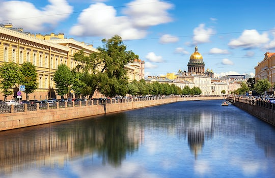 St Petersburg River cruise guided tour