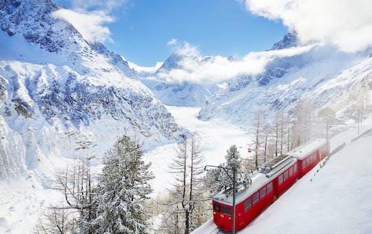 Excursión de un día a Chamonix Mont Blanc en tren de montaña.